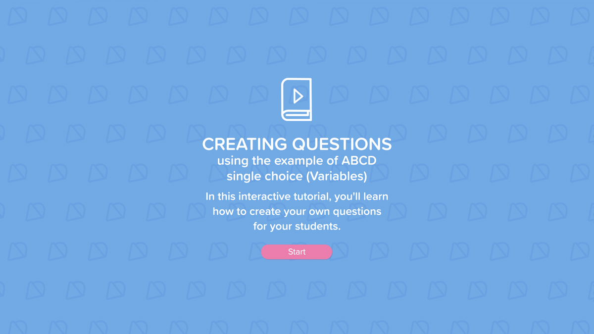 how to create questions in NUADU